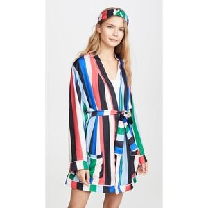 Plush Revolve Stripe Robe + Eye Mask